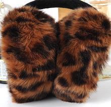 7 colours Hot Winter Warm Leopard Imitation Sunday Angora Yarns Fashion Elegant Women Adult Colorful Plush Earmuffs Earlap E009(China (Mainland))