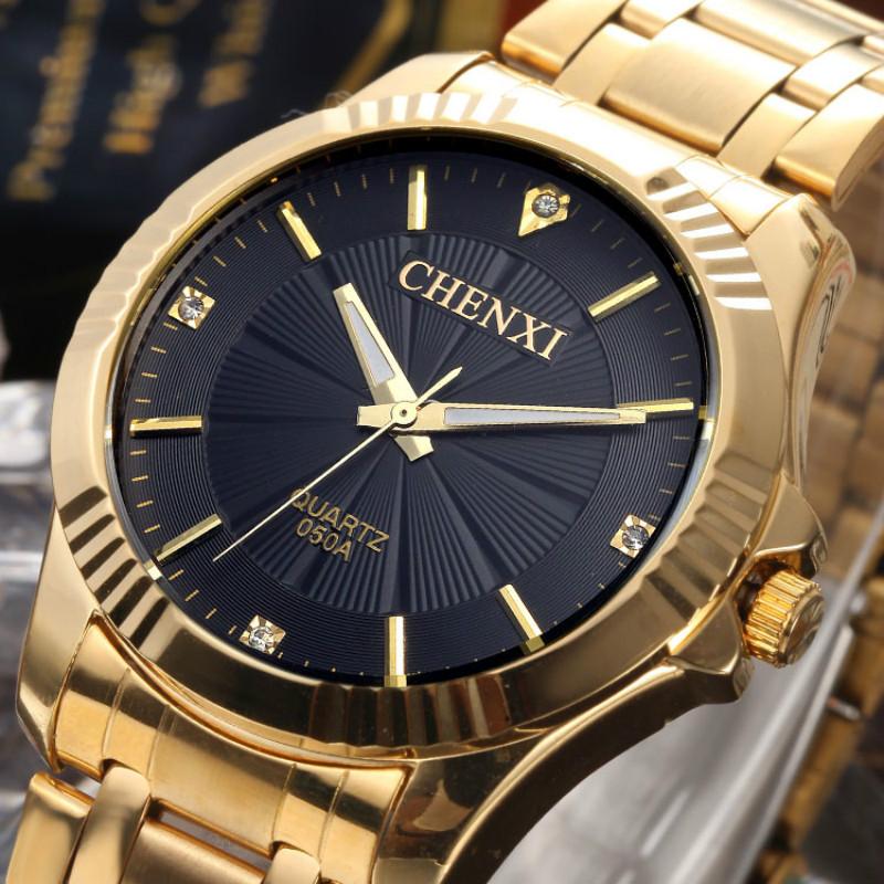CHENXI Full Gold Watch Mens Watches Top Brand Luxury Waterproof Quartz-watch Steel Wrist watches for Men relojes hombre 2016<br><br>Aliexpress