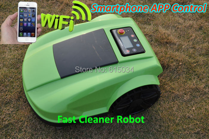 China Manufacture Directly Selling Newest And Best 4th Generation Smartphone Control Wifi APP WIRELESS Robot Grass Cutter(China (Mainland))