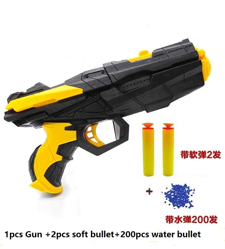 2016 Hot sale Shooting water crystal gun nerf Air Soft Gun airgun paintball Gun Pistol & Soft Bullet Plastic Gun Kids Toys gift(China (Mainland))