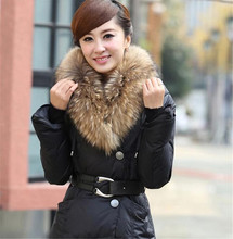 Real Raccoon Fur Collar Winter Warm Natural Solid Raccoon Fur Collar Luxury Fashion Scarves Design Size 80*18cm Sacarf QMM06(China (Mainland))