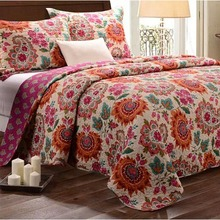 Adult American Paisley quilt cover Quilt Set Add size 3Pcs/set printed cotton Double summer Set use room home Dec FG197(China (Mainland))
