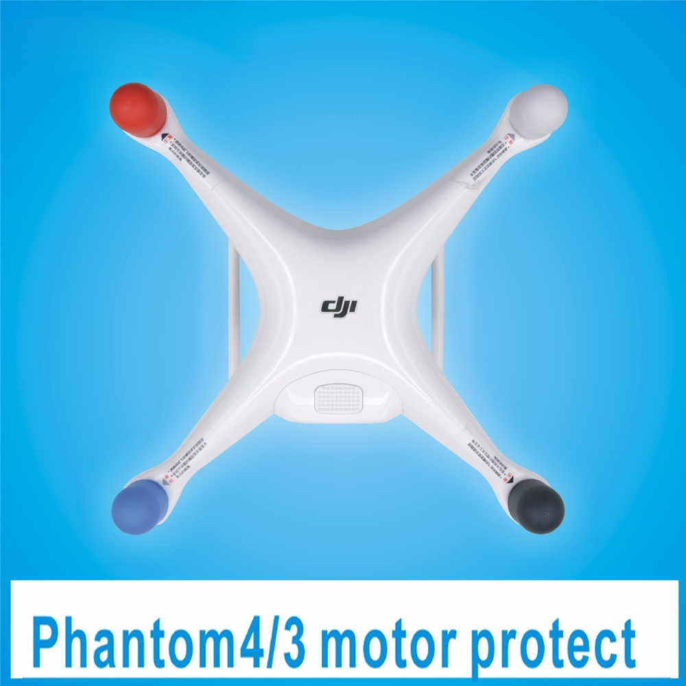 4Pcs transparent Shields Silica gel Motor protective cover Accessories for DJI Phantom 4 3 2 Lose money sale
