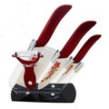 high quality 4 6 6 5 inch peeler holder beautiful red flower blade kitchen ceramic chef