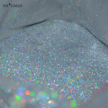 0.05mm Laser Silver Glitters Nail Holographic Sequins Nail Paillettes Hologram Nail Sparkle Glitter Laser Glitter Dust 3ml