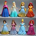 Brand 8Pcs Set 9CM Princesses Tangled Anna Aisha Action Figure Set Best Kids Girls Pretend Play