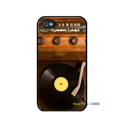 Old School Vintage Record Player Vinyl Radio cell phone case cover for iphone 4 4s 5 5s 5c SE 6 6s & 6 plus 6s plus #5119an(China (Mainland))