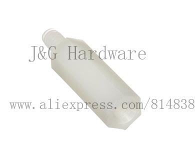 Hex nut / screw 45 + 6 mm M4  PCB Spacer Nylon off white Hex Stand-Off Pillar Male 500 pieces<br><br>Aliexpress