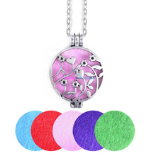"Buy 1pc 28"" Chain Pads Vintage Aromatherapy Lockets Essential Oil Diffuser Locket Necklace Cherry Heart Tree Flower Necklace for $2.71 in AliExpress store"