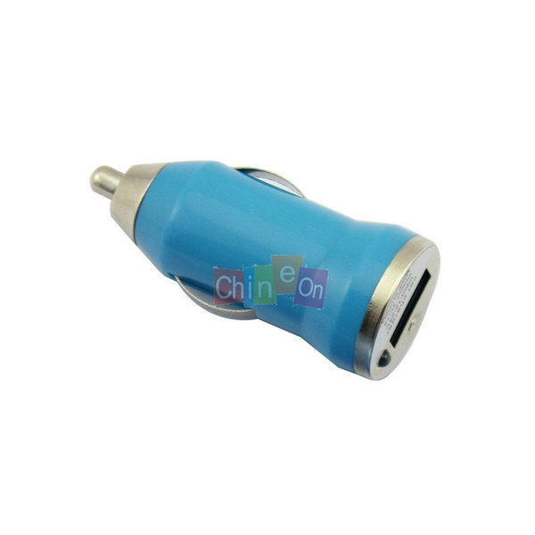 ( Light Blue color) ini Car Chagers Adapter for Cell Mobile phone for iPhone 3G 3GS 4 4S 5 for iPod MP3 MP4(China (Mainland))