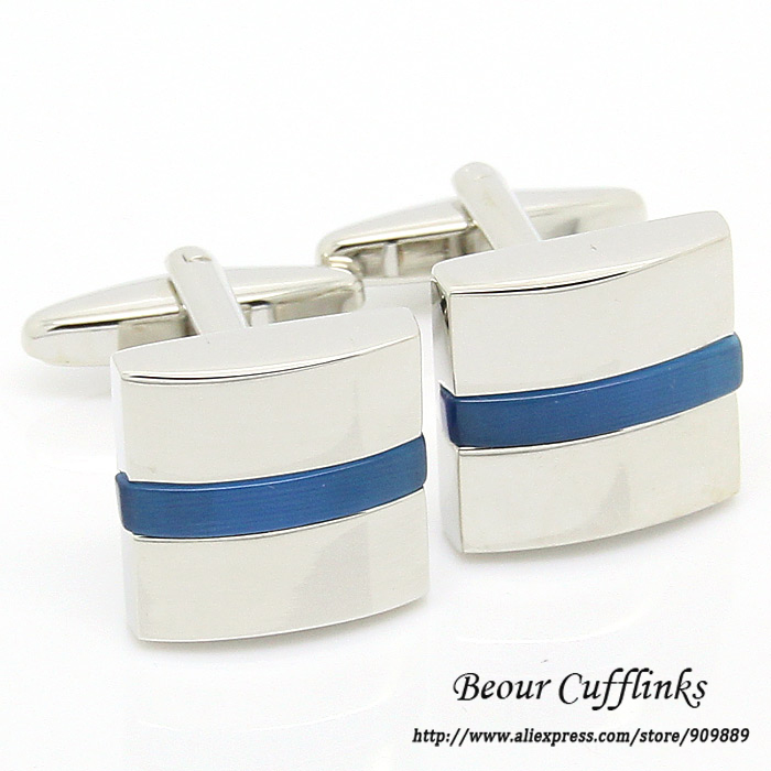 Hot Sale! Free Shipping - ZB1775 Square Blue Onyx Cufflinks For Men(China (Mainland))