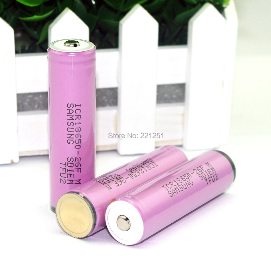 20PCS LOT New original ICR18650 26F 3 7v 2600mah rechargeable battery with protection board Electronic cigarettes