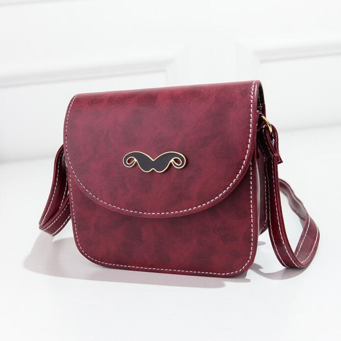 Promotion Women Small Leather Shoulder Bags Candy Color Beard Phone Bag Mini Messenger Bag Free Shipping(China (Mainland))