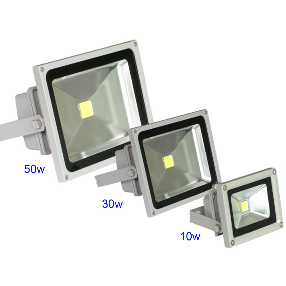 High power 10w 30w 50w waterproof LED flood light outdoor lighting reflect led lamp cool white spotlight Stock in USA Germany(China (Mainland))