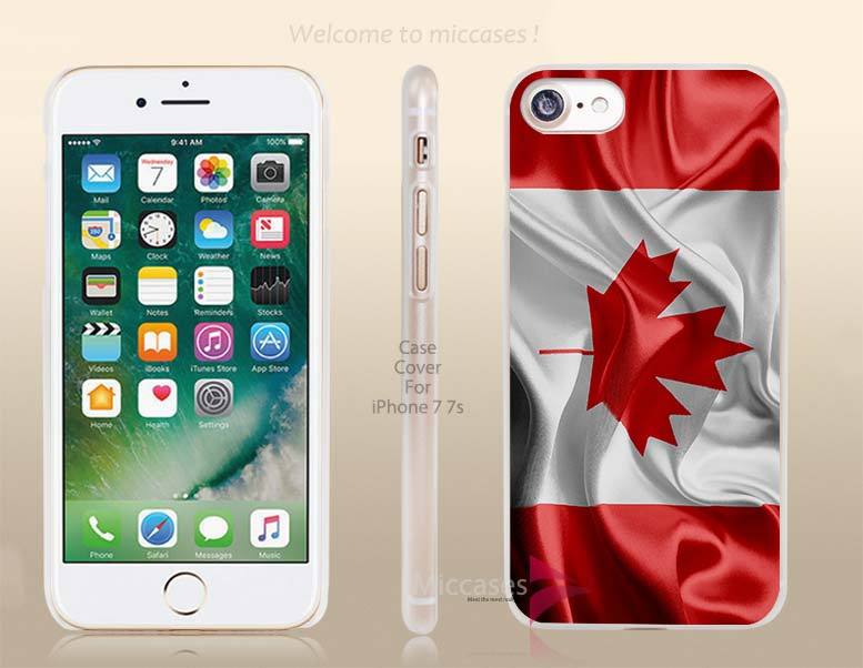 Canada Realistic Flag Hard Clear Cell Phone Case Cover for Apple iPhone 6 6s 7 7s Plus(China (Mainland))
