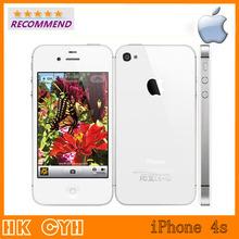"""Оригинального Apple iPhone 4S разблокирована смарт-мобильный телефон IOS 8 16 ГБ 3.5 """" HD IPS двухъядерный 8MP1080P wi-fi 3 г WCDMA используется Apple , телефон(China (Mainland))"""