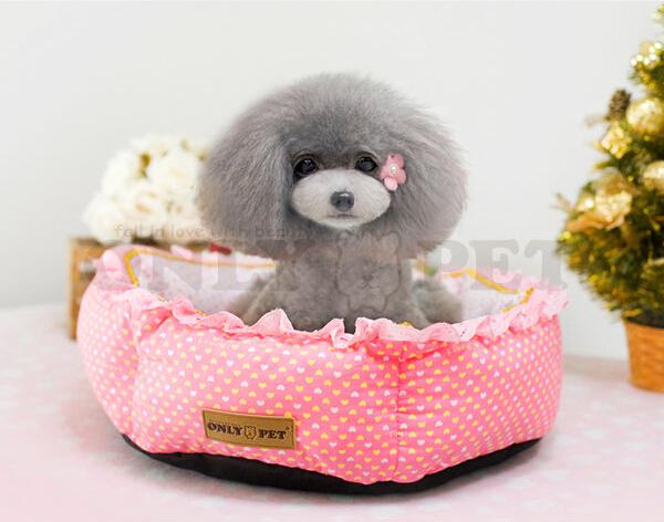 Новые собаки кошки мода точка кружева поставок дом doggy теплый мягкая кровать щенок продукции питомников гнездо