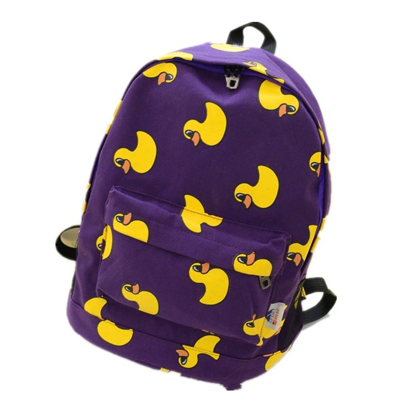 New Arrival Fashion Men's Backpack Canvas Women Backpack Student Schoolbag Campus Shoulder Cartoon Bag(China (Mainland))