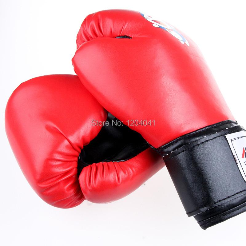 New PU Leather Kids Training Boxing Gloves Mitts Sparring Muay Thai Taekwondo Fitness Kick boxing Punching Gloves Free Shipping