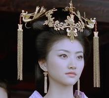 TV Play The Warring States Actress Jing Tian Empress Full Set Hair Tiaras Handmade Antique Pinach Artwork Hanfu Accessory
