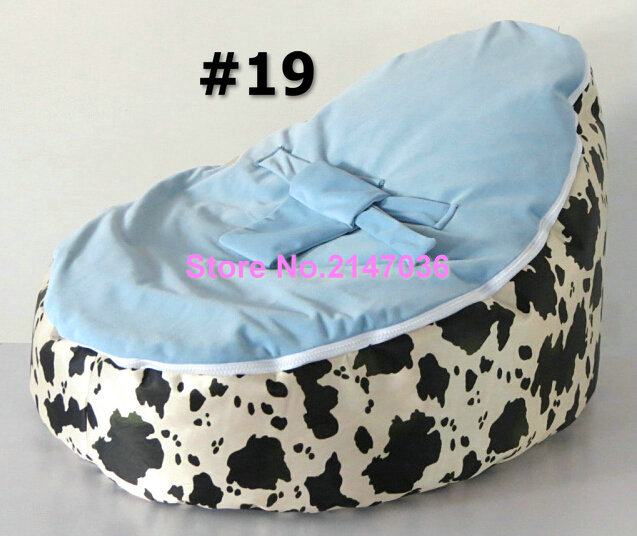 Cow / lily flower / Purple leopards pattern baby bean bag chair, baby beanbag sofa toddlers seat - 2 tops, free shipping(China (Mainland))