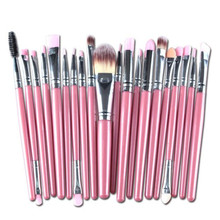 Buy Famous Brand Professional 20 Pcs makeup brushes sets Eyeshadow makeup Cosmetics eyebrow foundation cleaning hair brush for $4.24 in AliExpress store