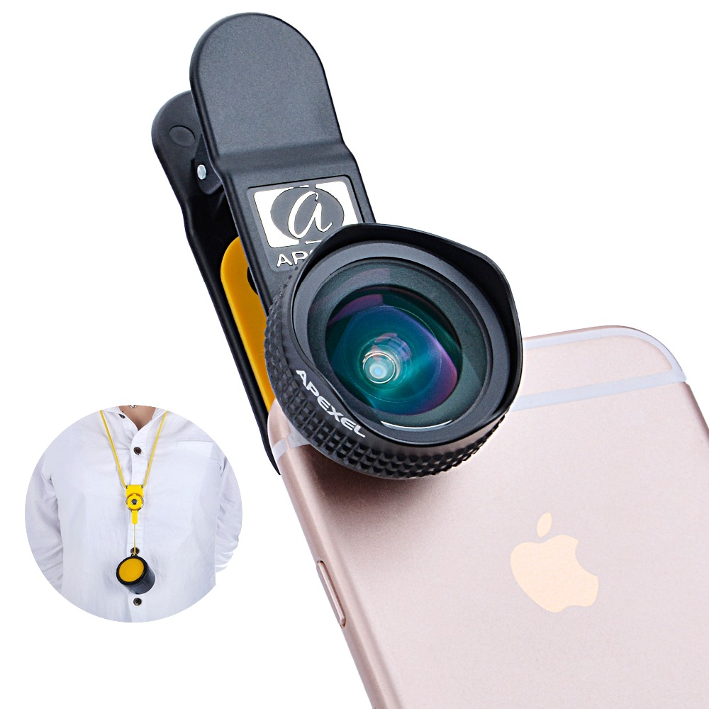 Apexel Optic Pro Lens, 18MM HD Wide Angle Camera Lens kit, More Landscape, No Distortion,No Dark Circle for cellphone APL-18MM(China (Mainland))