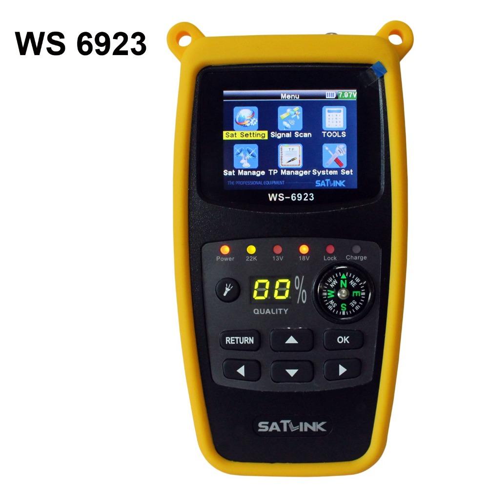 ANEWKODI Satlink WS-6923 with 2.1 inch LCD DVB-S FTA C&KU Band Digital Satellite finder satellite meter ws 6923 satellite finder(China (Mainland))