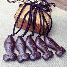 Vintage Wood Fish Pendant necklace Original Design Chinese style National  Solitaire Hangings Pendant Jewelry for women 2015(China (Mainland))
