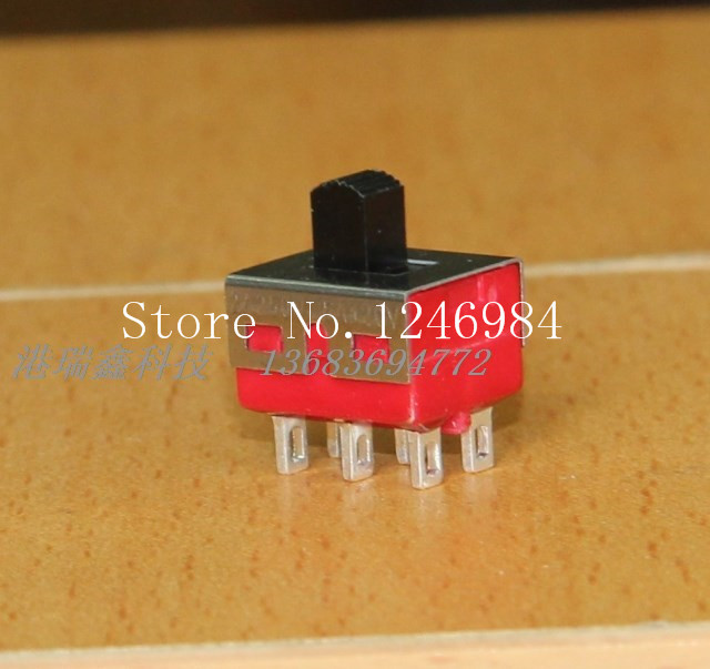 [SA]TS-11 dual six feet two tranches earless small toggle switch slide switch Q15 Taiwan Deli Wei 5MD1--50pcs/lot<br><br>Aliexpress