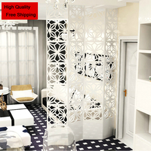 Room Dividers modern brief hanging folding screen cutout white restaurant partition entranceway curtain customize wall decor(China (Mainland))