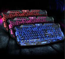2015 New Red/purple/blue Backlights Professional Gaming Keyboard PC Keyboards for Dota2 LOL Led Backlit Gaming Keyboard(China (Mainland))