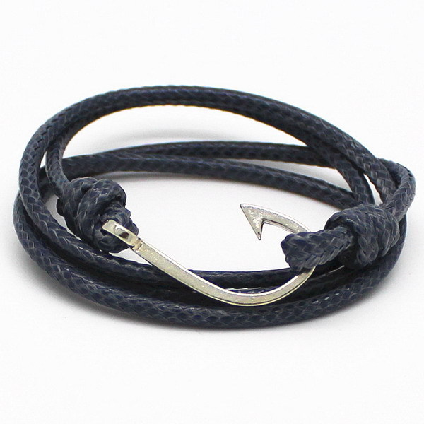 2015 New Arrival Vintage Rock Jewelry Leather Bracelet Hooks Bracelets For Women Men Best Friend Gift Free Shipping 11 Choice(China (Mainland))