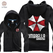 Free shipping ! NEW 2015 Men Women Resident Evil 5 umbrella brushed winter thickened cardigan Hoodies & Sweatshirts  / S-XXL(China (Mainland))
