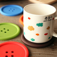 2015 Silicone Cup mat Cute Colorful  Button cup Coaster Cup porta copos Cushion Holder Drink cup Placemat Mat Pads coffee pad(China (Mainland))