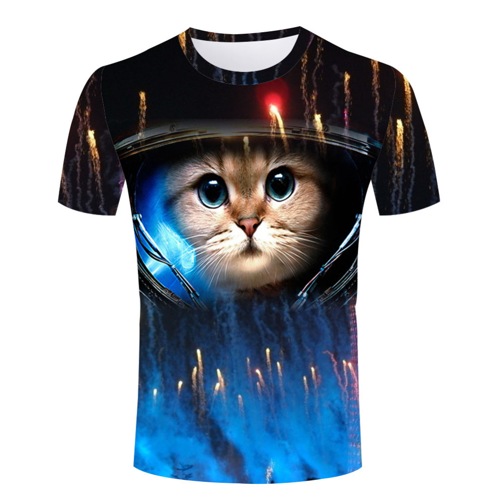 Masculine universe 3d cat clothes cool space pattern for Space pattern clothing