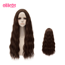 OHCOS Retail Film Avengers: Age of Ultron Scarlet Witch 65cm Brown Long Curly Hair Cosplay Wigs(China (Mainland))