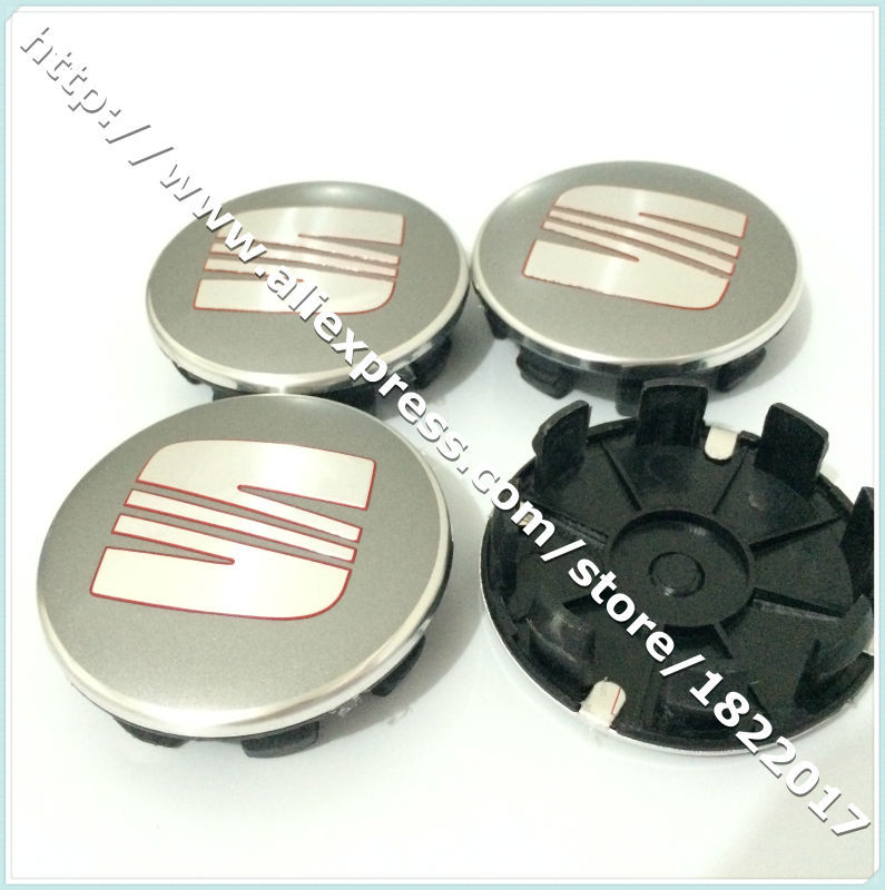 Hot selling 40pcs 62mm SEAT Emblem Badge car Wheel Hub Caps Center Covers with 8 pins for car decoration accessories(China (Mainland))
