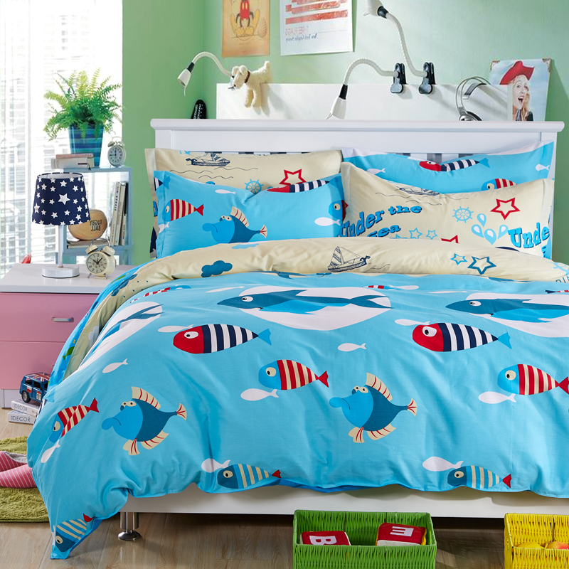 poissons housse de couette achetez des lots petit prix poissons housse de couette en. Black Bedroom Furniture Sets. Home Design Ideas