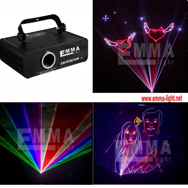 1w 3d Colorful laser light disco laser light rgb animation laser show(China (Mainland))