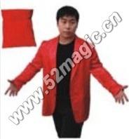 Bag to Suit ,stage magic illusions, novelties party/jokes,silk magic,fire magic(China (Mainland))