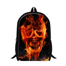 Buy Cool School Bags Teenagers Fashion Skull Printing Backpacks Children Boys Stylish Backpacking Bag Girl stylish Back Pack for $19.97 in AliExpress store