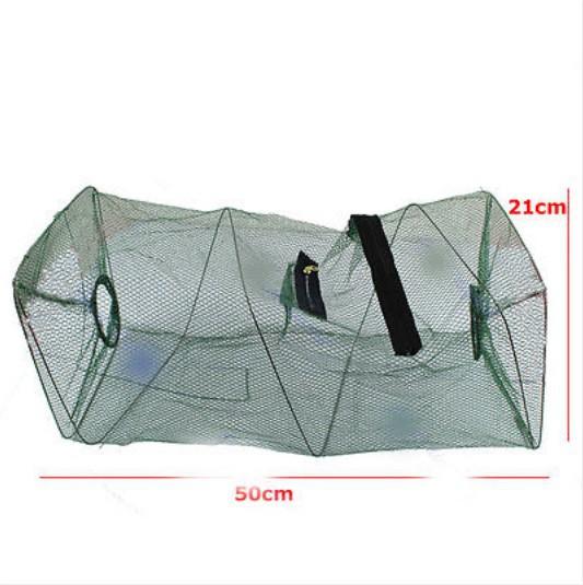 Hot Sale Foldable Crab Fish Crawdad Shrimp Minnow Fishing Bait Trap Cast Dip Net Cage Fishing Net Nylon(China (Mainland))