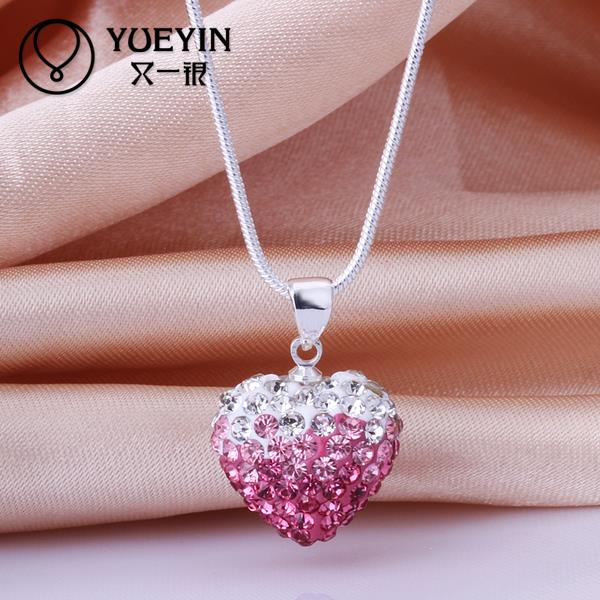 020Mix color!Free shipping fashion Shambala necklace,Drop pendant Necklace Crystal 925 Silver jewelry for women Christmas Gift