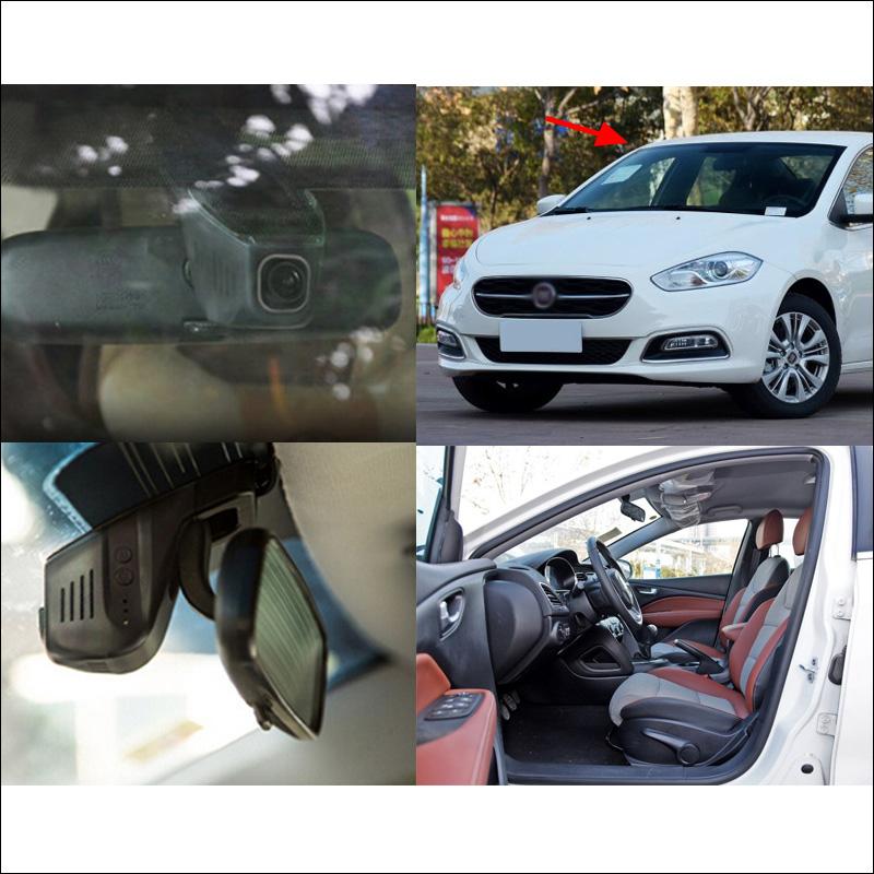 For Fiat Viaggo Car DVR Car Video Recorder Hidden installation Novatek 96658 car camera recorder wifi Car Dash Camera HD 1080P(China (Mainland))