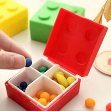 Portable 4 Compartment Pill Box Sealed Mini Building Block Style Pill Medicine Case Holder Storage Box Outdoor Kit OR871721(China (Mainland))