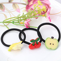 1 PC New Style Fruits Women Elastic Hair Bands Rubber Bands Headwear Hair Accessories Scrunchy Slice