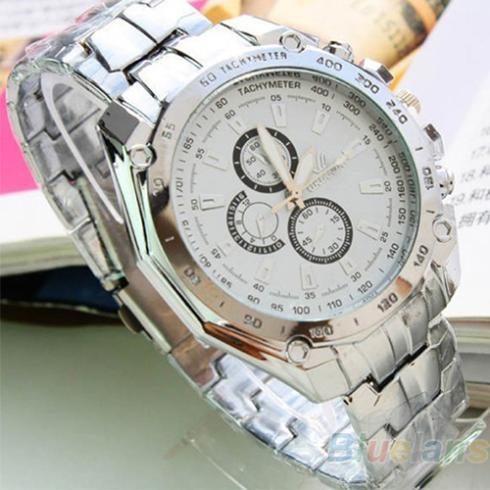 Hot Sale Luxury Fashion Men Stainless Steel Quartz Analog Hand Sport Wrist Watch Watches 1DDY