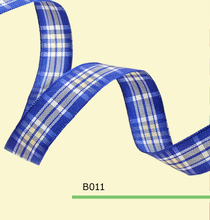 1.5″ inch 38mm Scottish blue tartan plaid ribbon