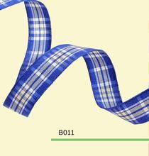 1.5″ inch 38mm Scottish blue tartan plaid ribbon
